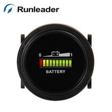 RL-BI002 круглый светодиодный индикатор 12 В 24 в 36 в 48 в 72 в измеритель расхода батареи для гольф-карт, грузовиков, автомобилей, лодок, вилочного погрузчика, морских мотоциклов cl
