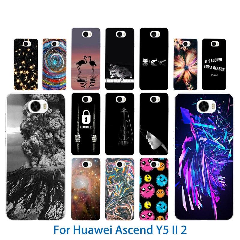 ТПУ чехлы Телефон для Huawei Y5 II y5ii <font><b>Y52</b></font> крышка вулканических узор 5,0 &#8220;силиконовый чехол для Honor 5A LYO-L21 CUN-U29 крышка