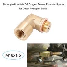90 Angled Lambda O2 Oxygen Sensor Extender Spacer for Decat Hydrogen Brass M18x1.5