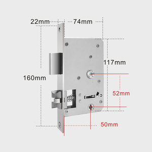 Image 3 - PINE WORLD 5052 6052 Stainless Steel lock body smart fingerprint door lock accessories fit for Q202