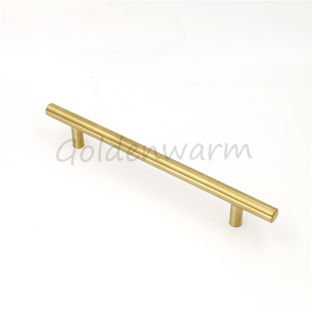5 inch Gold Cabinet Handles Stainless Steel T Bar Modern Drawer Pulls Kitchen Closet Door Knob Pulls 1 Piece~200 Pieces