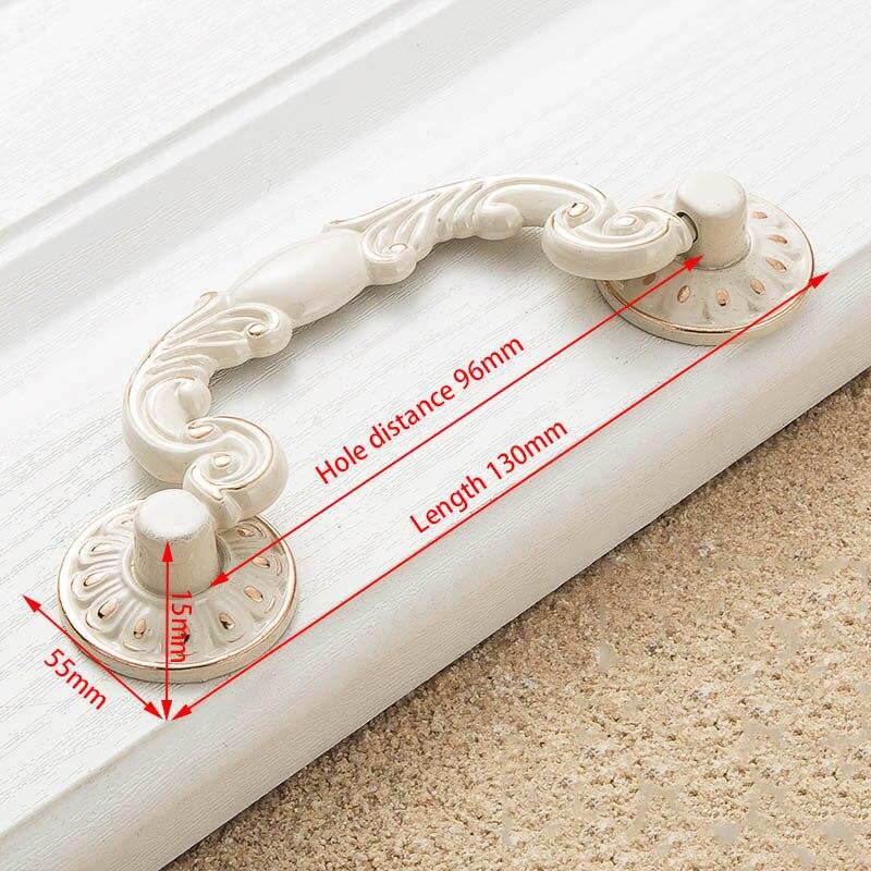 KAK цинк Aolly цвета слоновой кости ручки для шкафа кухонный шкаф дверные ручки для выдвижных ящиков Европейская мода оборудование для обработки мебели - Цвет: Handle-8206-96
