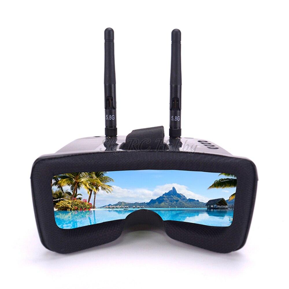 3 pouces 480*320 5.8G 40CH Raceband Auto-recherche Mini FPV lunettes intégré 3.7 V 1200 mAh batterie pour FPV Racer quadrirotor Drone