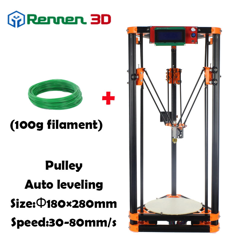 3 D Cheap Delta 3D Printer LX Auto Level  Mini Kossel Rostock Reprap Prusa 3D-Printer Machine Kit Injection parts Pulley 3d printer parts reprap delta rostock kossel pcb heated bed fr4 round 200 mm 12v or 24 v 120w free shipping
