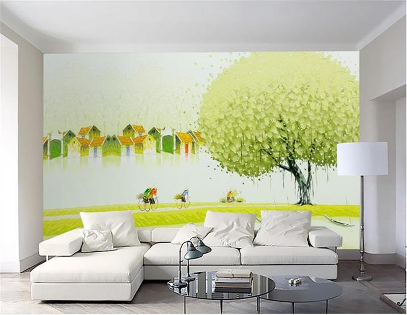 custom photo 3d wallpaper mural non woven abstract huge tree house ...