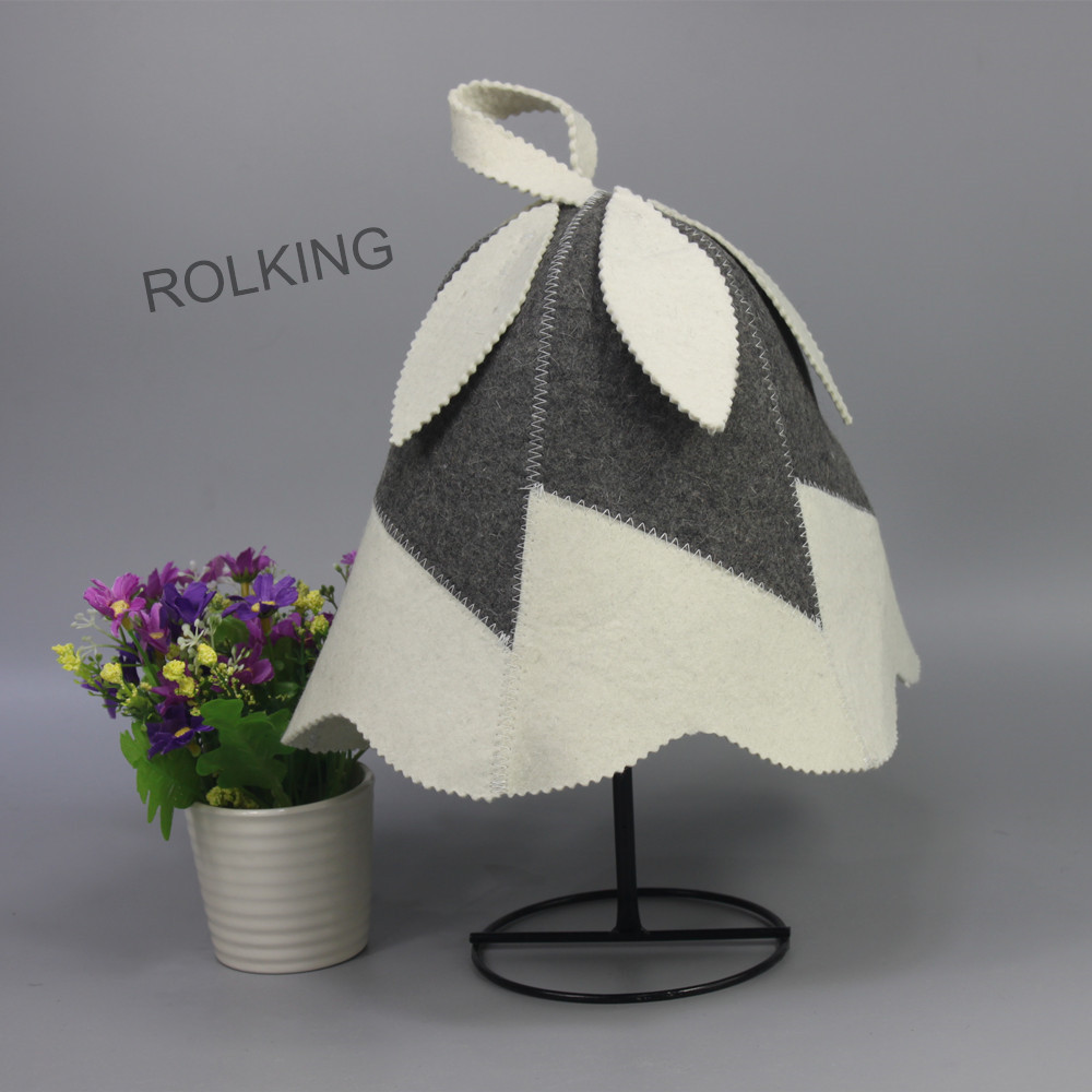 best price wool felt bath products sauna tent head circumference size 70cm