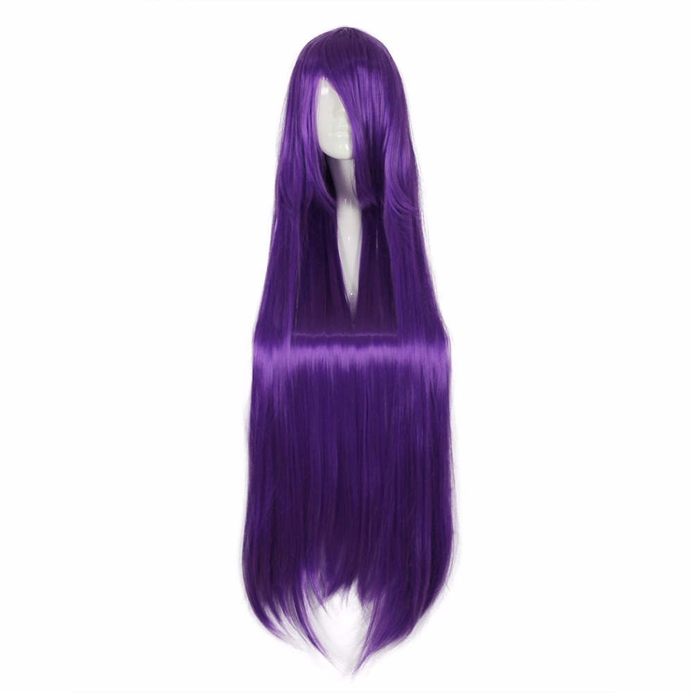 MCOSER 100CM Synthetic Long Straight Hair 16 Colors  Super Cosplay Party  100% High Temperature Fiber Wig Free Shipping WIG-017