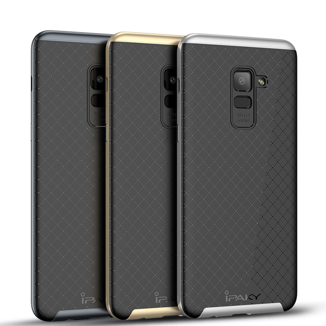 innovative design cf54a b2efb US $4.99 |Original iPaky For Samsung Galaxy A8 2018 Case Hybrid Silicone  Back Cover PC Frame Phone Cases For Samsung A8 Plus 2018-in Fitted Cases  from ...