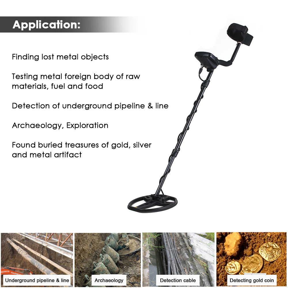 TIANXUN Sensitivitas Tinggi Profesional Bawah Tanah Detektor Logam Pinpointer dengan LCD Display Portable Emas Detector