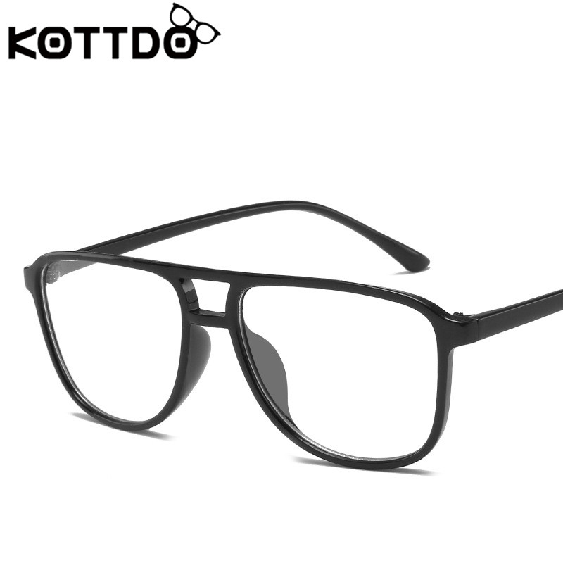 KOTTDO 2019 Student Square Computer Eye Glasses Frame Men Transparent Oversized Women's Glasses Frame Reading Eyewear Eyeglasses