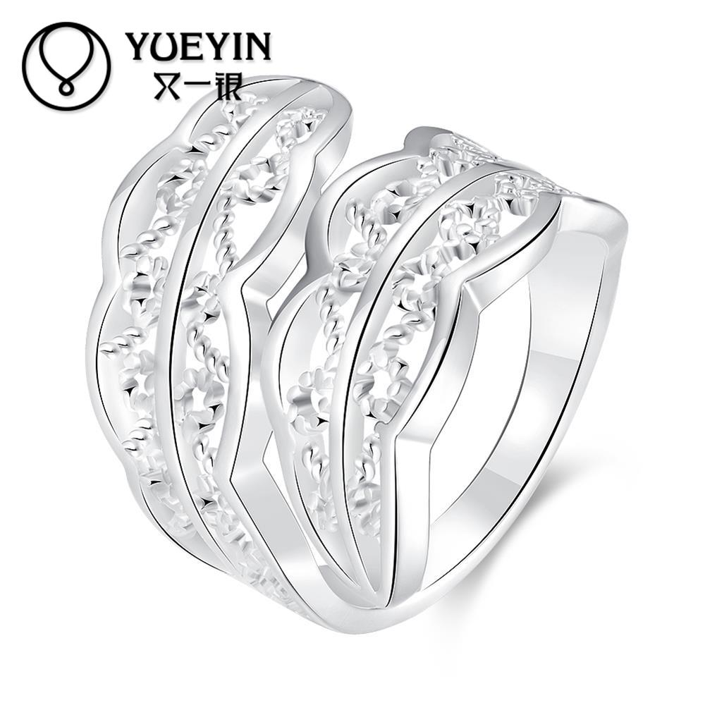 New coming silver rings for women with CZ crystal jewelry engagement ring white bijoux bague wedding rings