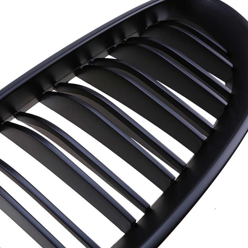 Possbay Matte Hitam Mobil Depan Bumper Pusat Kisi-kisi untuk BMW 5-Series E60 528xi/530d/530i/ 540i/545i Sedan 2003-2010 Grill Ventilasi