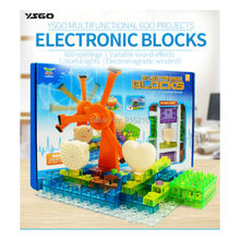 YSGO 600 projects  Electronic Circuits Building Blocks Science  Educational model kits Circuit Kit With Lighted Bricks (64pcs)
