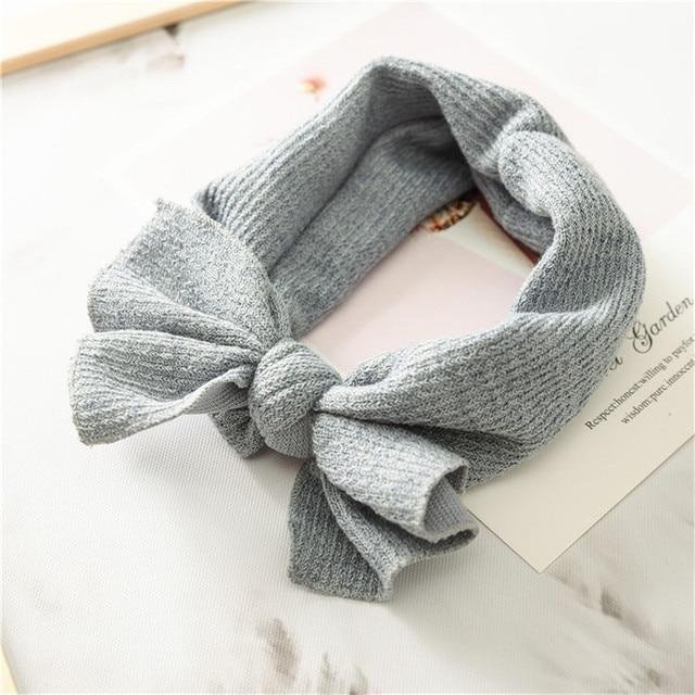 1 PC Winter Warm Ear Warmer Headwrap Xmas Girls' Crochet Headband Knitted Bow Hairband Hair Band Accessories 5
