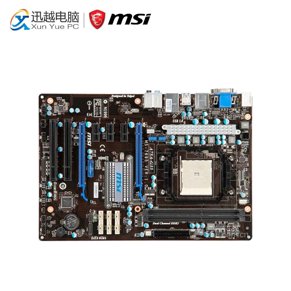 MSI A75A-G35 Desktop Motherboard A75 Socket FM1 DDR3 SATA3 USB3.0 Micro ATX защитная пленка luxcase для samsung galaxy s4 active i9295 суперпрозрачная 136х68 мм