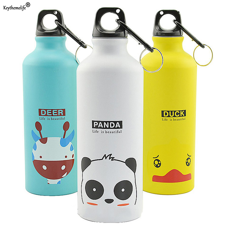 Cartoon Water Bottle Portable Animals Outdoor Sports Cycling Camping Bicycle Water Bottles Friend Kids Gift Drinkware 8C