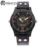 KINCO Smart Bracelet Bluetooth Waterproof Fitness Wristband Call SMS Remind Sleep Monitor Calories Mileage Pedometer Sedentary