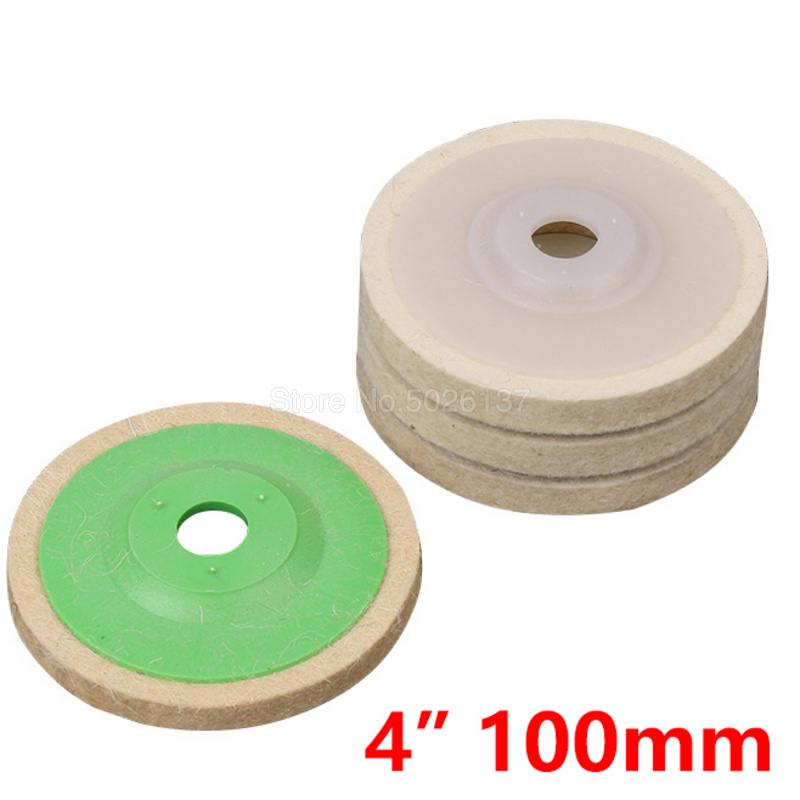 1PCs 4 Inch 100mm Wool Felt Polishing Wheel Angle Grinder Buffing Disc For Rotary Tool Abrasive Grinding Polish WoodWork Tools