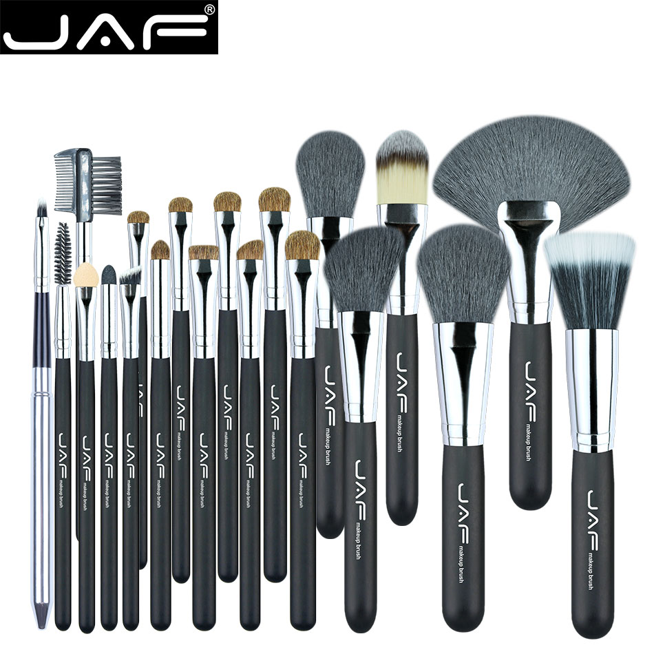 JAF 20 Pcs/Set Brushes for Makeup Natural Hair Makeup Brush Set professional Cosmetic Make Up Brush Tools Kits J2001PY-B at fashion 12 pcs makeup brushes set studio holder portable make up cup natural hair synthetic duo fiber makeup brush tools kit