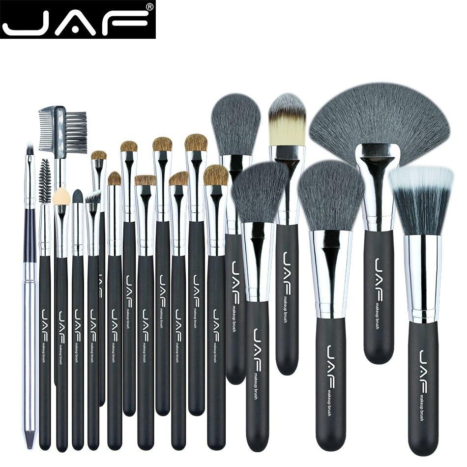 JAF 20 Pcs/ensemble Brosses pour le Maquillage Naturel Cheveux Maquillage Brush Set professionnel Cosmétique Make Up Brosse Outils Kits J2001PY-B
