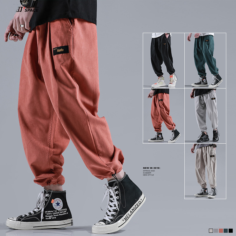 2020 Quality Men's Loose Beam Ankle Pants Harem Pants Fashion Casual Pencil Pants XL Sweatpants