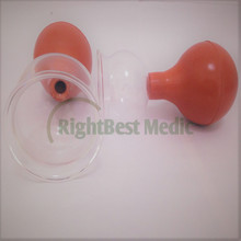 2 Cups Body Massage Cupping Health care Beauty tools 5 Sizes Medical Glass and Rubber Vacuum Suction