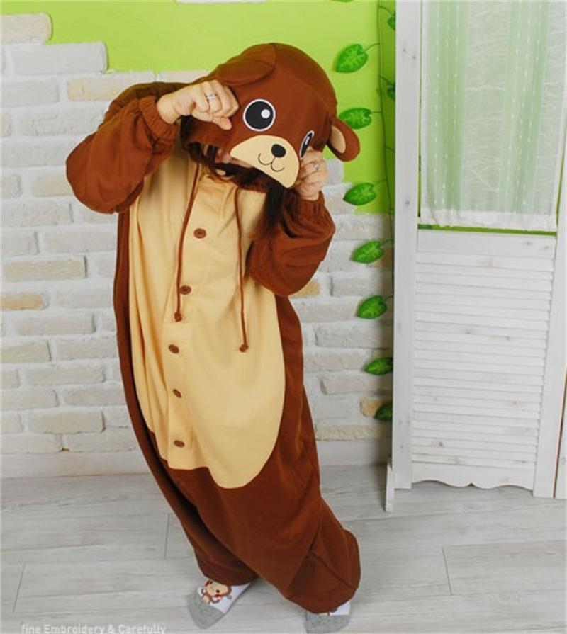 Brown Bear Onesies Pajamas Unisex Adult Pajamas Cosplay -1625
