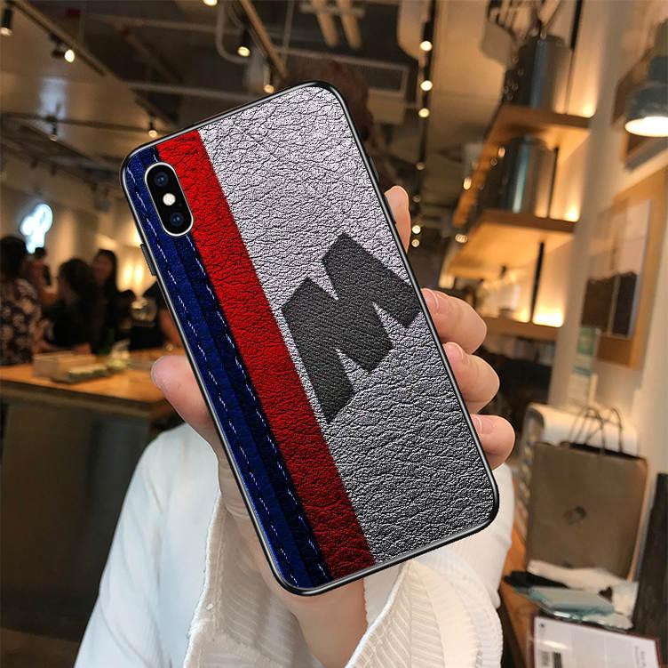 Luxe auto BMW black soft TPU siliconen telefoon cover case voor iPhone MAX XR XS X10 5 5 S 5SE 6 6 S 7 8 6 Plus 7 plus 8 plus