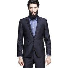 Latest Coat Pant Designs Black Formal Custom Best Man Bridegroom Suit For Men One Button Peaked Lapel Slim Fit 2 Pieces Ternos C
