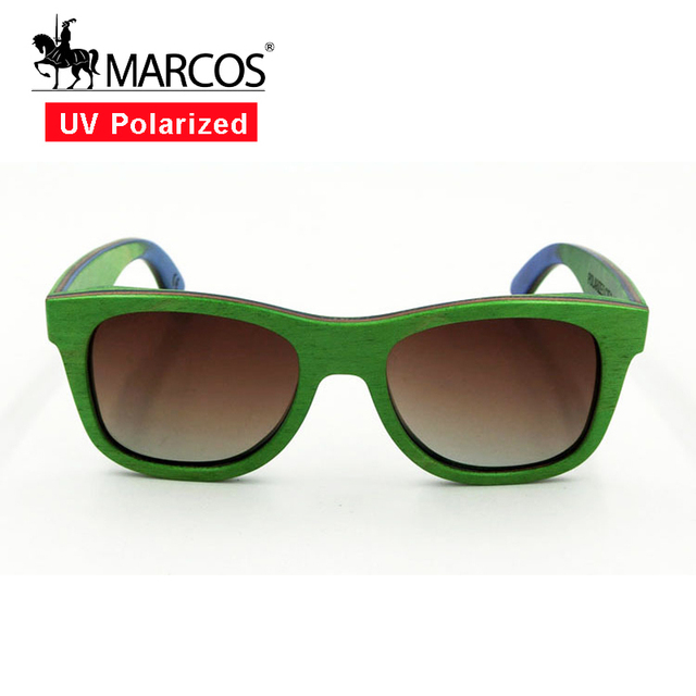 9e5076d56ec 2016 polarized wooden sunglasses men Green Plastic Framecool UV Protection  Colorful Lens wood glasses