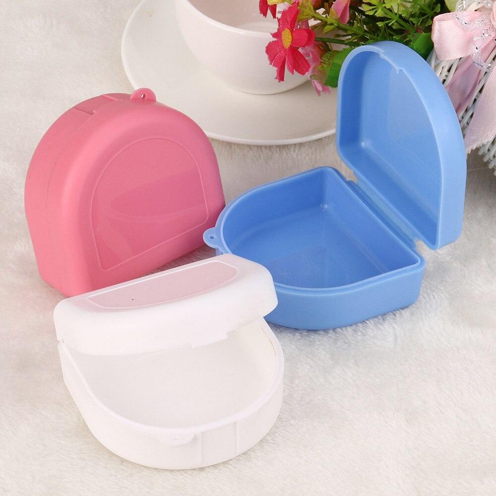 Denture Box Dental False Teeth Bath Boxes Cases Denture Storage Cases Appliance Heart-shaped Case Rinsing Basket Random Color