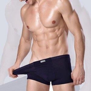 Nueva ropa interior bóxer de fibra de bambú para hombre de talla grande a media cintura de punto cómodo transpirable u-convexo ropa interior Boxers de secado fácil