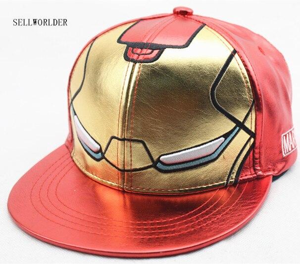 SELLWORLDER Caps Baseball-Caps Avengers Iron Character Kids Hats Hip-Hop Casual Cartoon