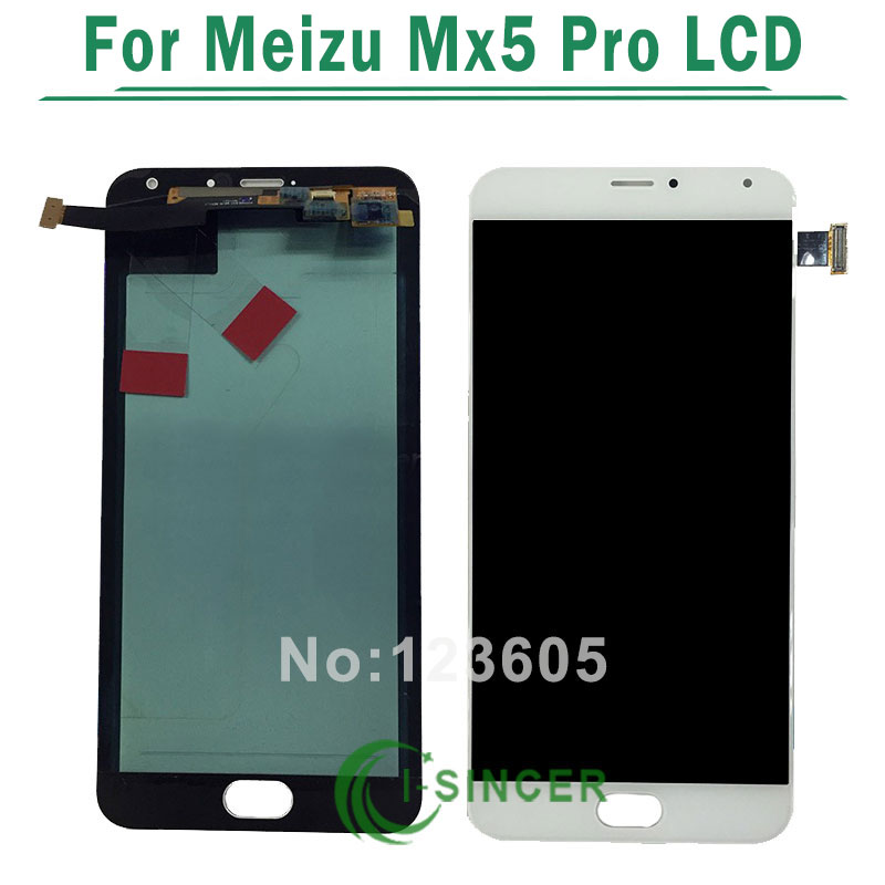 1/PCS Black White For Meizu MX5 Pro LCD Display+ Touch Screen assembly for MX5 Pro free shipping