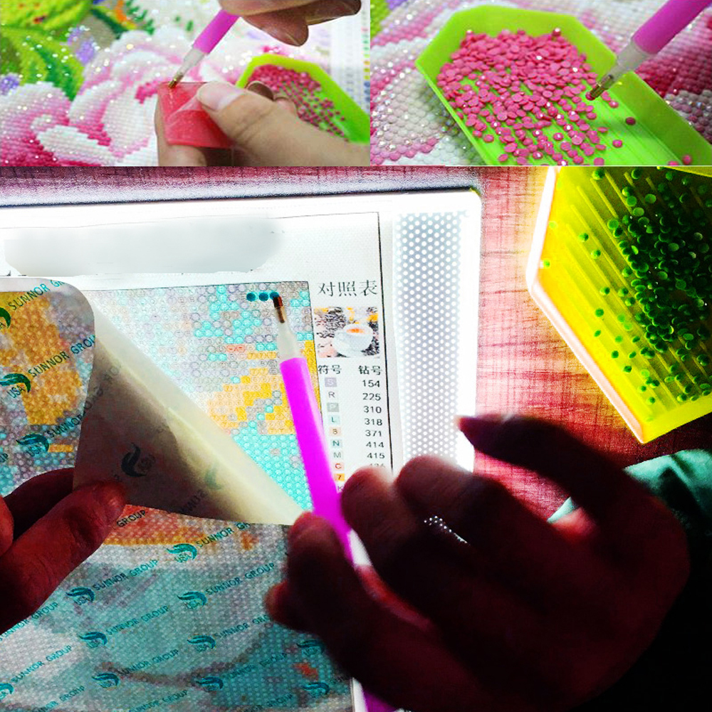 DIY Diamond Painting Pen A4 Led Light Diamond Embroidery Pad Cross Stitch Tablet Dimmable Diamond 5D Embroidery Mosaic Light Pad