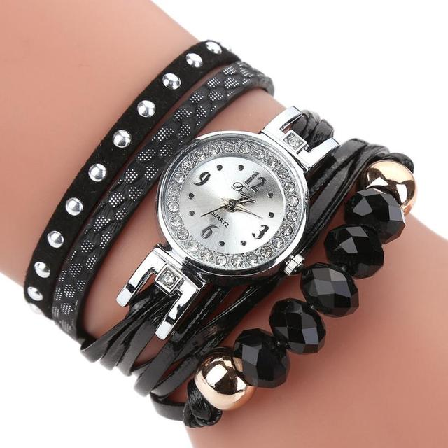 Duoya Brand New Watches Women Flower Popular Quartz Watch Luxury bracelet watche