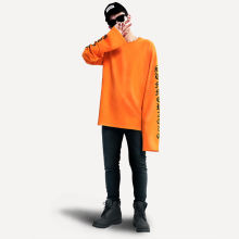 2016 autumn EXO and Bigbang same paragraph super-long sleeve oversize hoodie loose couple sweater men women hedging hoodies