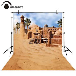Image 1 - Allenjoy 砂漠背景建物歳素晴らしい市オアシスミラージュ背景フォトポートレート撮影の小道具フォトセッション
