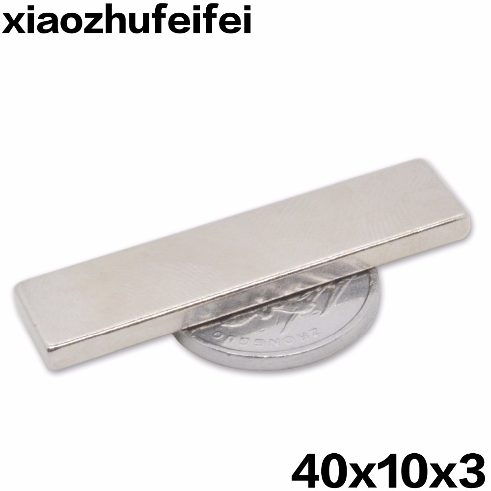Wholesale ,5pcs N50 Bulk Super Strong Strip Block Bar Magnets Rare Earth Neodymium 40 x 10 x 3 mm Lot Free Shipping!ndfeb Neodym 2015 20pcs n42 super strong block square rare earth neodymium magnets 10 x 5 x 1mm magnet wholesale price