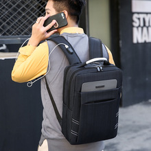 External Usb Man Business Affairs Package Both Shoulders Travel anti theft Backpack 15.6 Inch Computer
