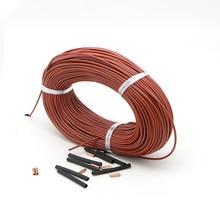 Резиновая крышка 12K 33 Ohm/m углеродное волокно нагревательный провод гибкий водонепроницаемый теплый пол нагревательный кабель