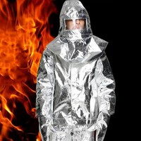 1000C Алюминий Фольга огонь охраняемых одежда Термальность изоляционная одежда огнестойкая, из алюминия Фольга тепло Теплая одежда полный на