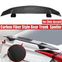 Universal ABS Carbon Fiber Pattern Rear Spoiler Rear Trunk Lip Wing Car Accessories For HONDA for CIVIC 16 19 for Benz Sedan Car