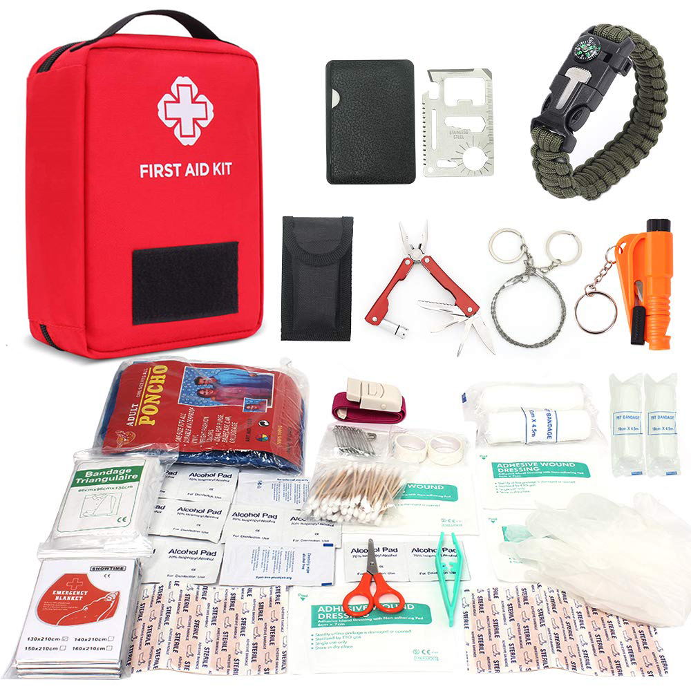 Outdoor First Aid Survival Kit Home Car Emergency Medical Bag Medicine Drug Pill Box Pouch Travel Sport Rescue Treatment