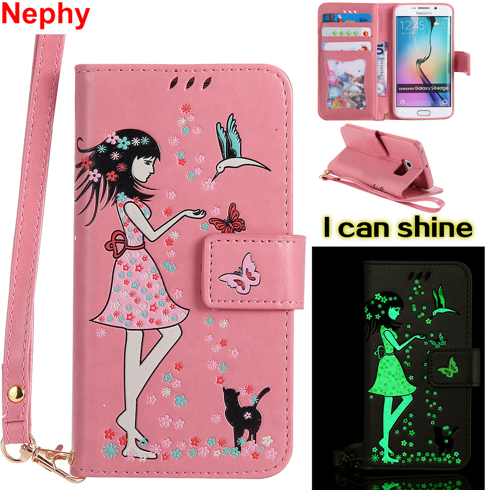 2019 Latest Design Nephy Luxury Case For Samsung Galaxy S3 S5 Neo S4 S6 S7 Edge S 3 4 5 6 7 Duos Cover 3d Noctilucent Leather Casing Full Housing Beneficial To The Sperm