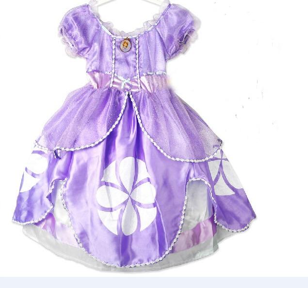 2017 New design Princess sofia dress 2 color costume vestido princesa sofia princesinha sofia the roupas infantil meninas sofia п 306