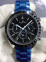 Luxury Brand New Men Stopwatch Watch Ceramic Bezel Stainless Steel Speed Racing Black Chronograph Japanese OS Movement Sapphire