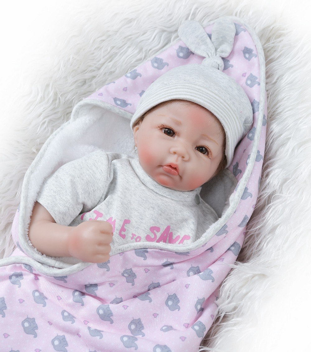 NPK 50cm soft Silicone Reborn Baby Doll kids Playmate Gift For Girls Bebe Alive Soft Toys