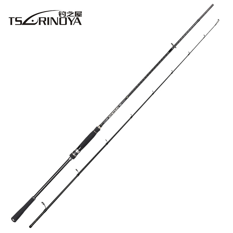 TSURINOYA MYSTERY 2.4m/2.7m M/MH Power Carbon Fiber Spinning Fishing Rod FUJI Accessories Canne A Peche Fishing Tackle mystery mh 1103