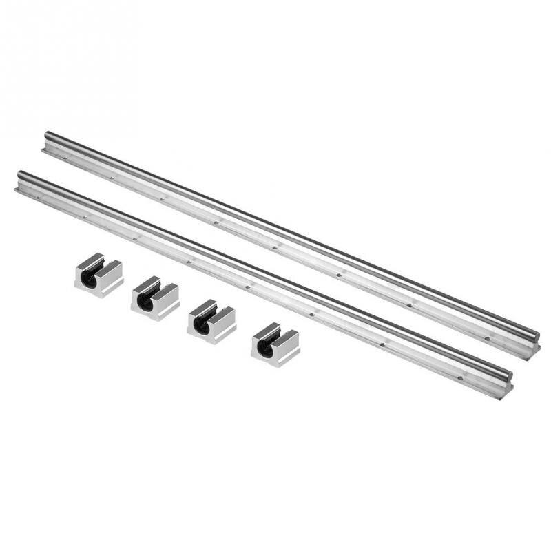 2PCS Set SBR12 800mm 12MM Width Linear Bearing Rail Slide Guide Shaft with 4pcs SBR12UU Blocks
